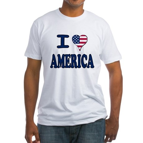 I heart America Fitted T-Shirt