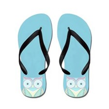 Colorful Owl Flip Flops