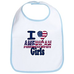 I heart American Girls Bib