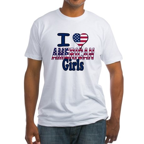 I heart American Girls Fitted T-Shirt