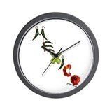 Mexico Chilis Wall Clock