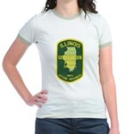 Illinois Game Warden Jr. Ringer T-Shirt