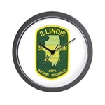 Illinois Game Warden Wall Clock