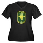 Illinois Game Warden Women's Plus Size V-Neck Dark