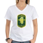 Illinois Game Warden Women's V-Neck T-Shirt