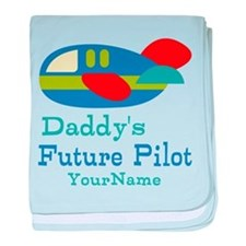 Daddy's Future Pilot baby blanket