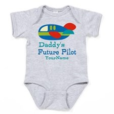 Daddy's Future Pilot Baby Bodysuit