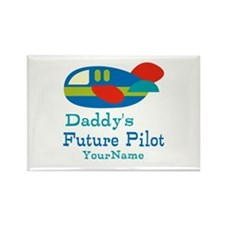 Daddy's Future Pilot Rectangle Magnet (10 pack)