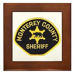 Monterey County Sheriff Framed Tile
