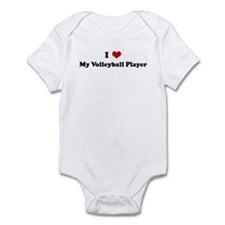 I Love My Volleyball Player Infant Bodysuit