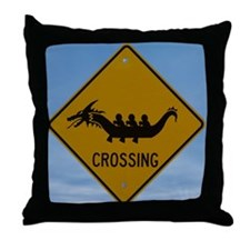 Dragon boat paddling Throw Pillow