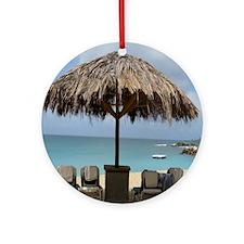 St. Martin Beach 3 Round Ornament