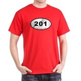 201 - Oval Euro Sticker Desig T-Shirt