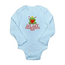 Valentine Frog Long Sleeve Infant Bodysuit