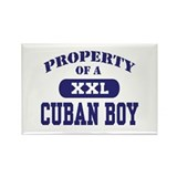 Property of a Cuban Boy Rectangle Magnet