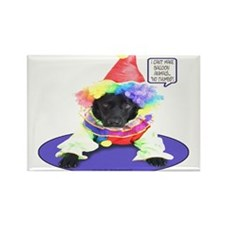 Black Lab Clown Rectangle Magnet