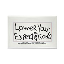 Lower Your Expectations Rectangle Magnet (10 pack)