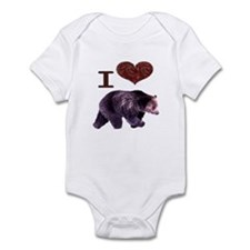I Love Bears Infant Bodysuit