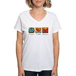 Peace Love Martini Women's V-Neck T-Shirt