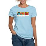 Peace Love Martini Women's Light T-Shirt
