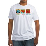 Peace Love Martini Fitted T-Shirt