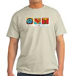 Peace Love Martini Light T-Shirt