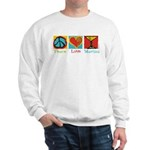 Peace Love Martini Sweatshirt