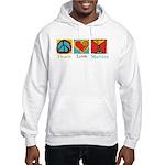 Peace Love Martini Hooded Sweatshirt