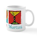 Peace Love Martini Mug