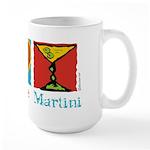 Peace Love Martini Large Mug