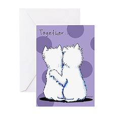 Hugging Westies Greeting Card