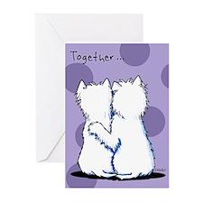 Hugging Westies Greeting Cards (Pk of 20)