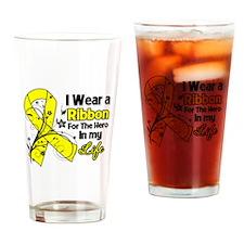 Hero in My Life Endometriosis Drinking Glass