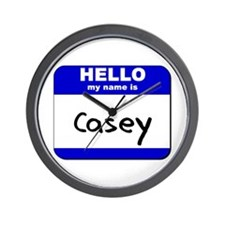hello my name is casey  Wall Clock