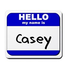 hello my name is casey  Mousepad