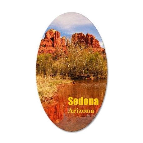 Sedona_5X7_Card_CathedralRoc 35x21 Oval Wall Decal