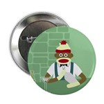 Sock Monkey Martini Bartender Button