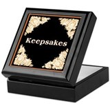 Gold on Black Keepsake Box