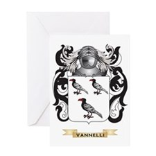 Vannelli Family Crest (Coat of Arms) Greeting Card