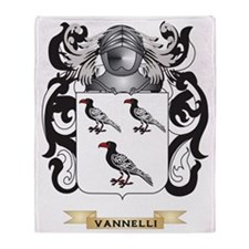 Vannelli Family Crest (Coat of Arms) Throw Blanket