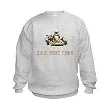 Custom Kart (Sepia) Sweatshirt