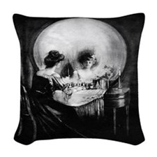 All Is Vanity Woven Throw Pillow