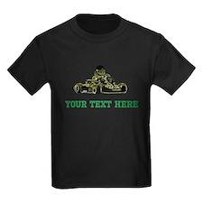 Custom Kart (Black/White/Green) T-Shirt