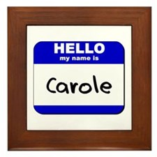 hello my name is carole  Framed Tile