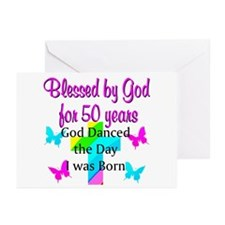 REJOICING 50TH Greeting Cards (Pk of 20)