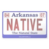 Arkansas License Plate (Nativ Sticker (Rectangular