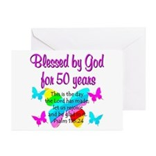 DELIGHTFUL 50TH Greeting Cards (Pk of 20)