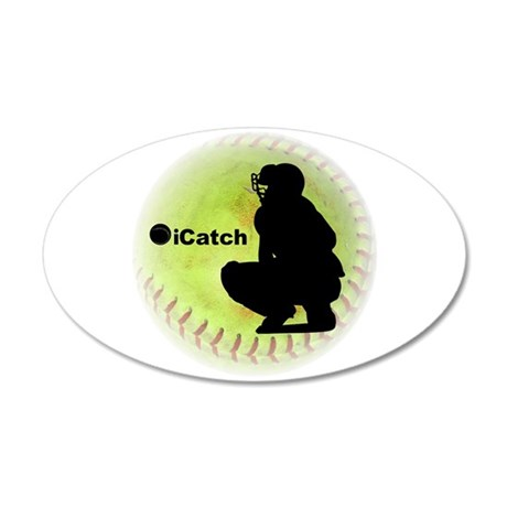 iCatch Fastpitch Softball 22x14 Oval Wall Peel