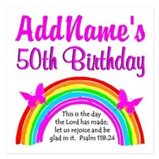 BLESSED 50TH Invitations