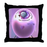 Vampire Kiss Throw Pillow
